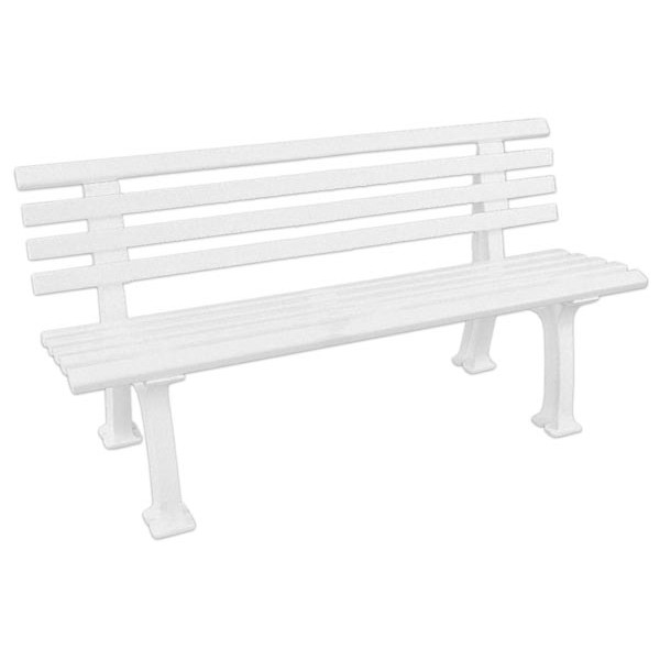 BANC DE TENNIS 2 PLACES (Blanc)