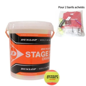 dunlop baril 60 balles stage 2 oranges