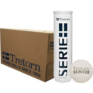 tretorn 18 tubes 4 balles blanches serie +