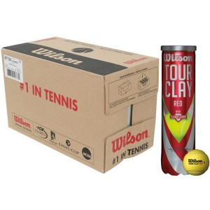 wilson 18 tubes 4 balles tour clay red
