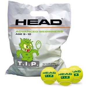 head sachet 72 balles tip green