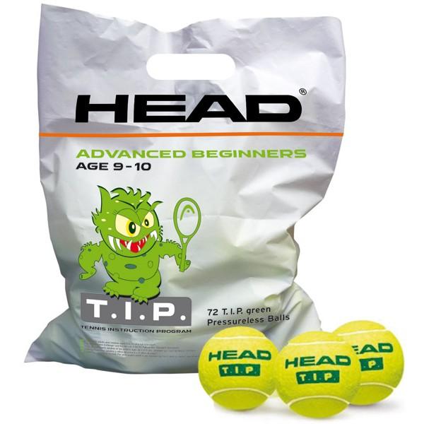 SACHETS DE 72 BALLES HEAD TIP GREEN